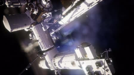 international space station : International Space Station in outer space