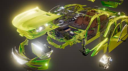 rolamento : Disassembled Car with Visible Parts