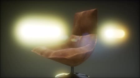 armchairs : vintage leather armchair boss Stock Footage