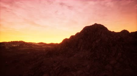 valley of fire : Sunset at the Rocky Valley Stock Footage