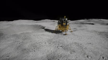 eleven people : lunar landing mission on the Moon Stock Footage