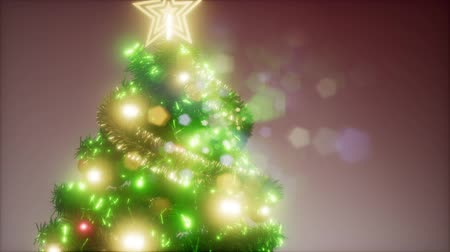 безделушка : Joyful studio shot of a Christmas tree with colorful lights