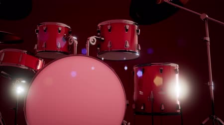 instrumenty : drum set with DOF and lense flair
