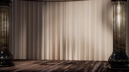 kadife : stage curtain with light and shadow