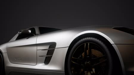 kupé : luxury sport car in dark studio with bright lights