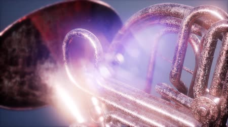 клапан : french horn with DOF and lense flairs