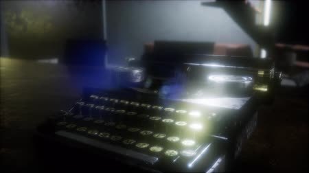 memorando : retro typewriter in the dark