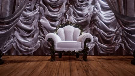 veludo : luxurious theater curtain stage with chair