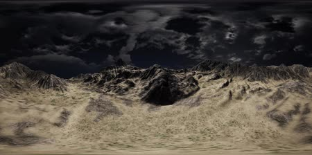 leegte : VR 360 Huge Dark Clouds over Scottish Highlands
