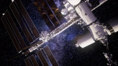 kosmická loď : International Space Station in outer space