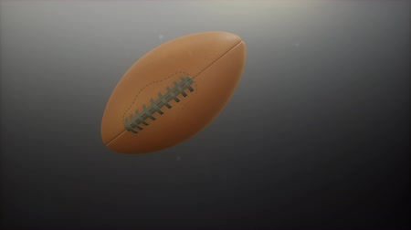 playoff : 4K loop football on gray background