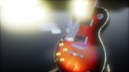 seis : electric guitar in the dark with bright lights Vídeos