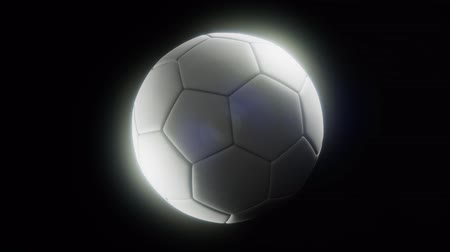 敗者 : soccerball against a dark background