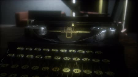 memo : retro typewriter in the dark