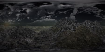 dark desolate : VR 360 Huge Dark Clouds over Scottish Highlands