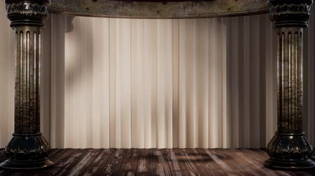 名声 : stage curtain with light and shadow