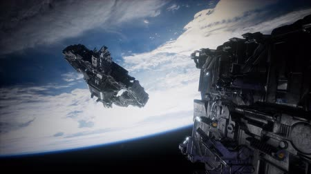 fleet : Fleet of Massive Spaceships Known as Motherships Taking Position over Earth