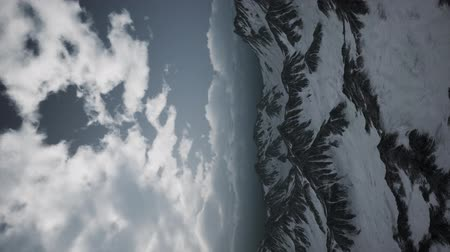 dolomitos : Storm Cloud over Dolomites Stock Footage