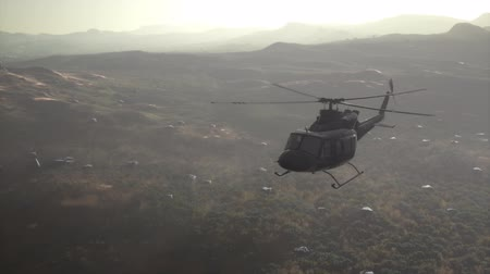 forgórész : Slow Motion United States military helicopter in Vietnam