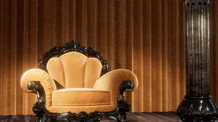 kadife : luxurious theater curtain stage with chair