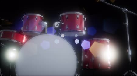 dobos : drum set with DOF and lense flair