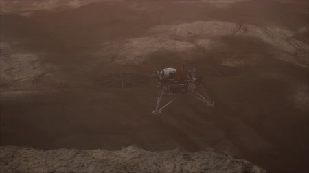 Марс : Insight Mars exploring the surface of red planet