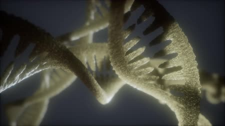 клон : loop double helical structure of dna strand close-up animation