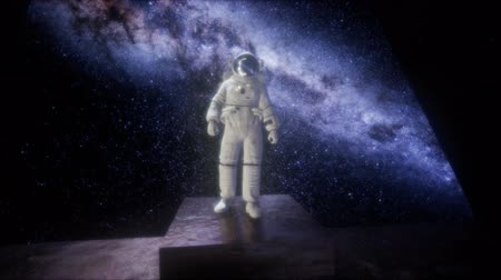 astronauta : astronaut on space base in deep space