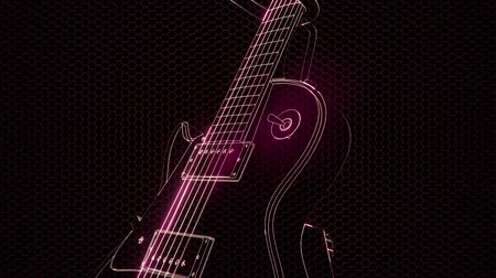 seis : electric guitar in the hologram with bright lights