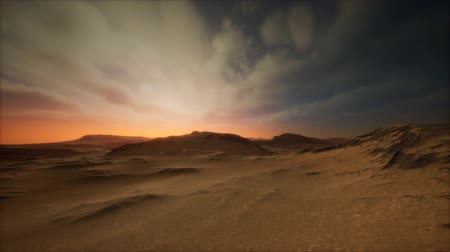 stof : desert storm in sand desert Stockvideo
