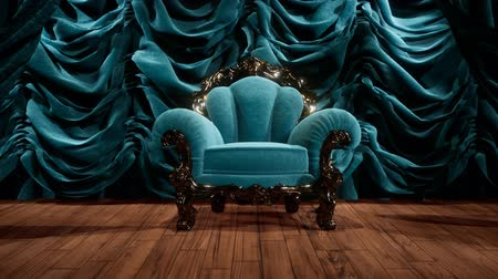 lugares sentados : luxurious theater curtain stage with chair