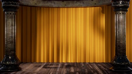 veludo : stage curtain with light and shadow