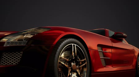 クーペ : luxury sport car in dark studio with bright lights