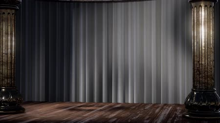 fama : stage curtain with light and shadow