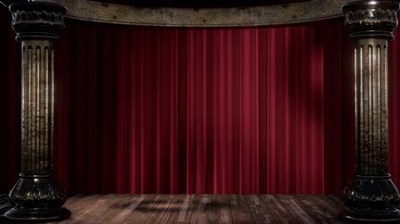 stage theater : stage curtain with light and shadow