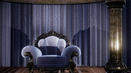 симфония : luxurious theater curtain stage with chair