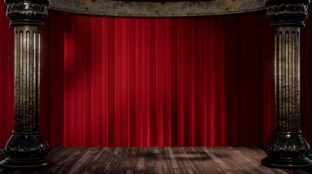 un : stage curtain with light and shadow