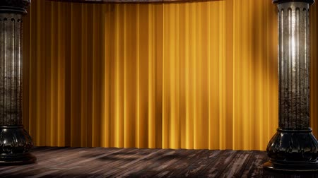 felvonás : stage curtain with light and shadow