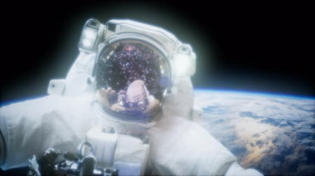 andromeda : Astronaut at spacewalk. Elements of this image furnished