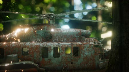lapát : old rusted military helicopter