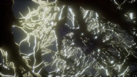 neuro : Journey through a neuron cell network inside the brain Stock Footage