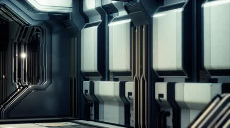 base station : futuristic sci fi Spaceship interior