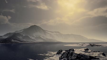 antarktida : Mountains covered with ice in Antarctic landscape Dostupné videozáznamy