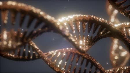 vertente : double helical structure of dna strand close-up animation