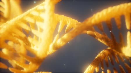 клон : double helical structure of dna strand close-up animation