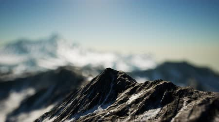 himalaya : Winter Landscape in Mountains Stock Footage