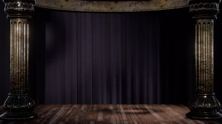 симфония : stage curtain with light and shadow