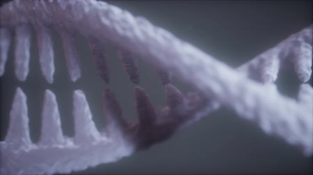 physically : bright particulate 3D rendered DNA
