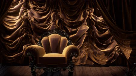 классический : luxurious theater curtain stage with chair