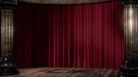 speaker : stage curtain with light and shadow